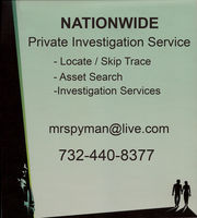 Private Investigations - (732) 440-8377 - Nationwide Searches